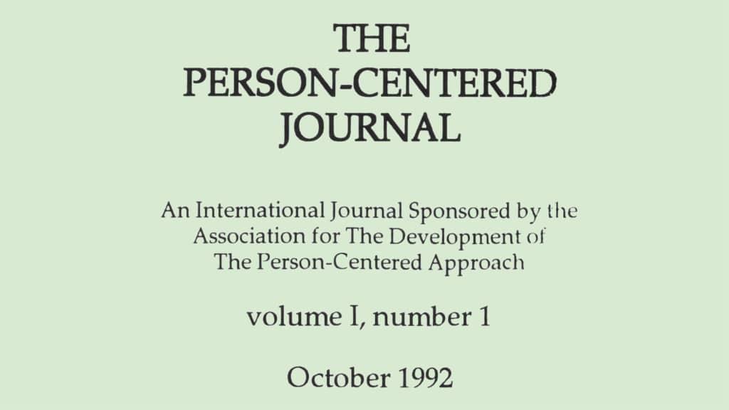 PCJ Volume 1 Number 1 Cover